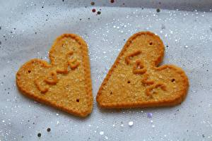 Images Love Cookies Heart English Two Sugar Food