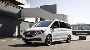 Bilder Mercedes-Benz Weiß Ein Van 2019 EQV Worldwide automobil