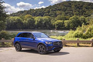Pictures Mercedes-Benz Blue 2020 GLC 300 4MATIC AMG Line auto