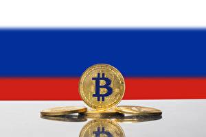 デスクトップの壁紙、、貨幣、コイン、Bitcoin、旗、ロシアの、