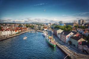 Fotos Norwegen Schiffsanleger Gebäude Schiffe Stavanger