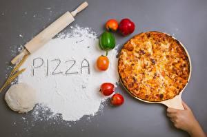 Bilder Pizza Paprika Mehl Wort
