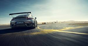 Hintergrundbilder Porsche Hinten Bewegung Graues 911 automobil
