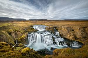 Pictures Rivers Waterfalls Iceland Nature