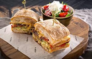 Fotos Sandwich Gemüse Lebensmittel