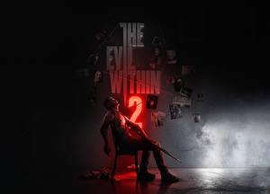 Fotos Flinte Mann Sitzt Stühle Sebastian Castellahe, the Evil Within 2 computerspiel