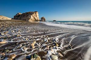 Hintergrundbilder Steine Küste Republik Zypern Paphos District