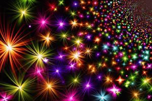 Hintergrundbilder Textur Neujahr Stern-Dekoration Bunte Lichtstrahl