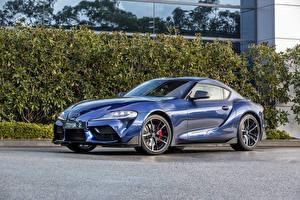 Hintergrundbilder Toyota Hellblau Metallisch 2019 GR Supra GTS Autos