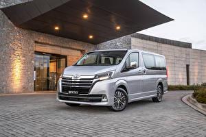 Hintergrundbilder Toyota Silber Farbe Metallisch Ein Van 2019 Granvia auto