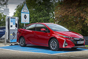Fotos Toyota Rot Metallisch Hybrid Autos 2019 Prius Plug-in Hybrid Business Edition Autos