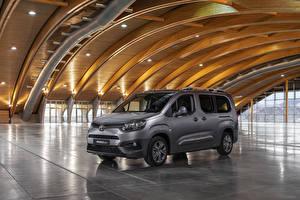 Hintergrundbilder Toyota Graue Ein Van 2019 ProAce City Verso Long automobil