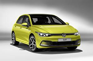 Фото Volkswagen Металлик Салатовые Golf hatchback 2020 Автомобили