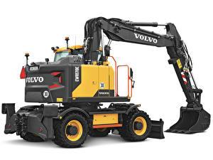 Bilder Volvo Technik Weißer hintergrund Bagger 2017-19 EWR170E