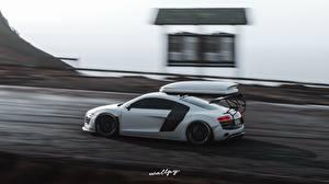 Fotos Audi Forza Horizon 4 Seitlich Bewegung Weiß R8, by Wallpy computerspiel Autos