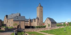 Hintergrundbilder Burg Festung Deutschland Türme Steinau An Der Strasse, Hessen Städte