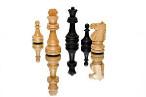 Hintergrundbilder Schach Weißer hintergrund Reflexion sportliches