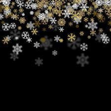 Bilder Neujahr Schwarzer Hintergrund Schneeflocken Vorlage Grußkarte