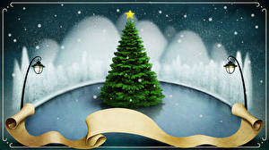 Hintergrundbilder Neujahr Schnee Straßenlaterne Christbaum Vorlage Grußkarte