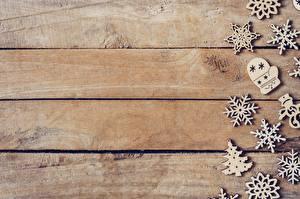 Hintergrundbilder Neujahr Bretter Schneeflocken Hölzern Vorlage Grußkarte