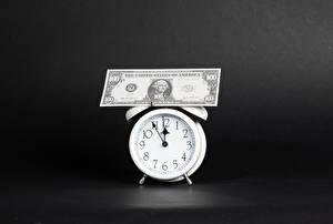 Wallpapers Clock Money Paper money Dollars Alarm clock