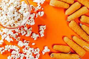 Hintergrundbilder Mais Farbigen hintergrund popcorn das Essen