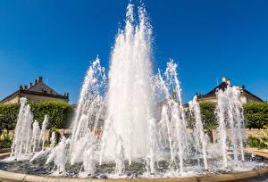 Wallpaper Denmark Copenhagen Fountains Water splash Cities