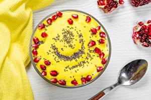 Pictures Dessert Pomegranate Spoon Grain