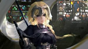 Fotos Hand Handschuh Blond Mädchen Fate/Grand Order, Jeanne d'Arc, Ruler Spiele Mädchens Fantasy