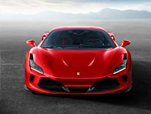 Bilder Ferrari Rot Vorne F8 Tributo auto
