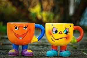 Image Funny Mug Two Joy Gloomy