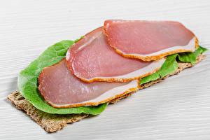 Bilder Schinken Geschnittene Lebensmittel