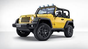 Hintergrundbilder Jeep Gelb Wrangler Rubicon