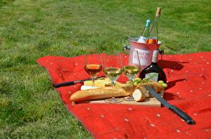 Wallpaper Knife Bread Wine Grass Picnic Bottle Stemware Food
