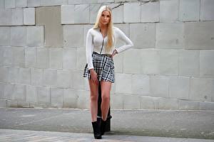 Fotos Bein Rock Haar Blond Mädchen Mädchens