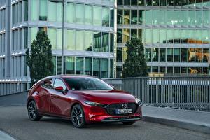 Fotos Mazda Bordeauxrot Metallisch 2019 Mazda3 Skyactiv-X Hatchback Worldwide automobil