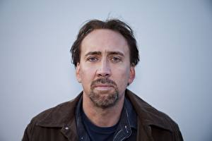 Bureaubladachtergronden Een man Nicolas Cage Baard Beroemdheden