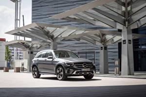 Hintergrundbilder Mercedes-Benz Graues Metallisch Softroader 2019 GLC 300 4MATIC Worldwide Autos