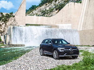 Picture Mercedes-Benz Blue CUV 2019 GLC 300 L 4MATIC AMG Line automobile