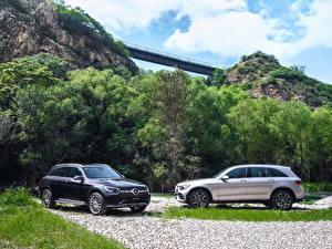 Bilder Mercedes-Benz Zwei Softroader 2019 GLC 300 L 4MATIC AMG Line