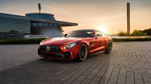 Pictures Mercedes-Benz Red AMG CGI GT R 2019 by Ahmed Anas automobile
