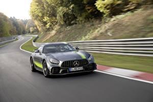 Hintergrundbilder Mercedes-Benz Bewegung Graues AMG PRO GT R Autos