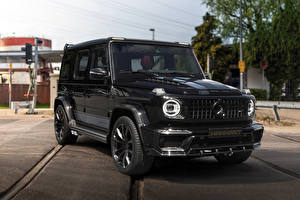 Images Mercedes-Benz G-Class Sport utility vehicle Black 2019 Manhart G 700 Inferno Cars