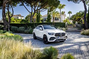 Hintergrundbilder Mercedes-Benz Weiß Metallisch Coupe Crossover  Autos