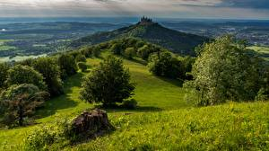 Images Mountains Castles Germany Trees Hohenzollern Castle, Bisingen Nature