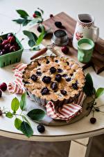 Fotos Backware Obstkuchen Brombeeren das Essen