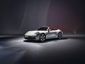 Fotos Porsche Cabrio Weiß 911 Carrera 2019 auto