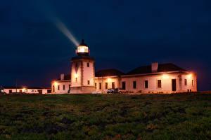 Fotos Portugal Gebäude Leuchtturm Nacht Gras Lichtstrahl Carrapateira, Faro