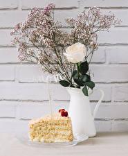 Bilder Rose Torte Wände Kannen Englisches Englisch Blüte das Essen Lebensmittel
