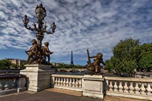 Hintergrundbilder Skulpturen Frankreich Straßenlaterne Zaun Paris Städte